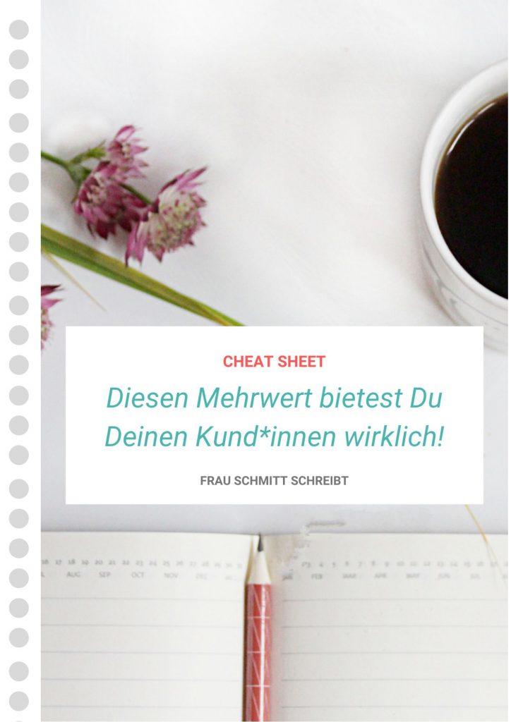Cheat Sheet: Diesen Mehrwert bietest Du Deinen Kund*innen wirklich!