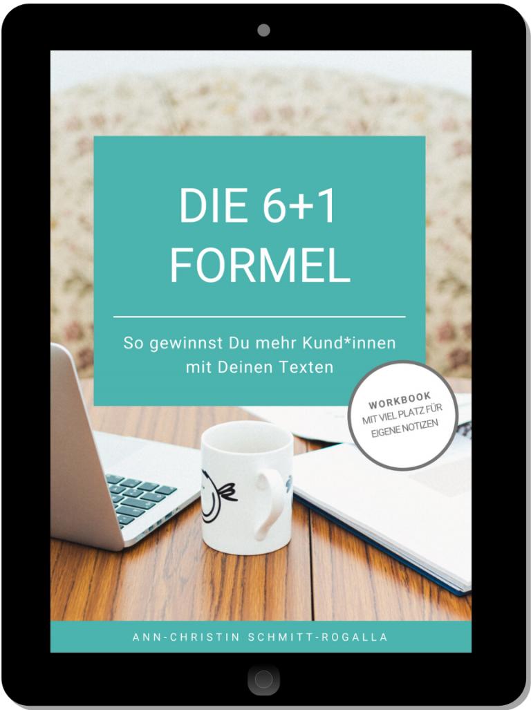 """E-Book """"Die 6+1 Formel"""""""